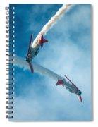Crisscrossing T 6's Spiral Notebook