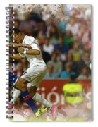 Cristiano Ronaldo Heads The Ball During The Spanish League Footb Spiral Notebook