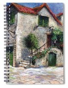 Croatia Dalmacia Square Spiral Notebook