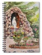Crockett California Saint Rose Of Lima Church Grotto Spiral Notebook