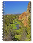 Crooked River And Mt Hood Oregon Spiral Notebook