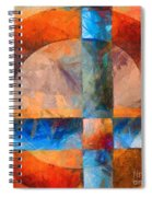 Cross And Circle Abstract Spiral Notebook