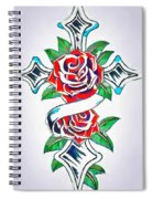 Cross And Roses Tattoo Spiral Notebook