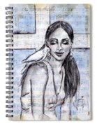 Cross Dove Spiral Notebook