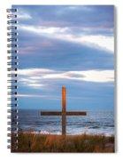 Cross Light Square Spiral Notebook