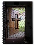 Cross On Church Door Open To Prison Yard Spiral Notebook