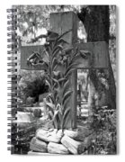 Cross Series IIi In Black And White Spiral Notebook