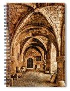 Rhodes, Greece - Cross Vault Spiral Notebook