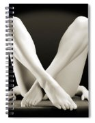 Crossed Legs Spiral Notebook