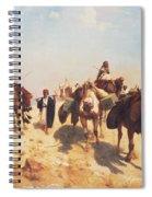 Crossing The Desert Spiral Notebook