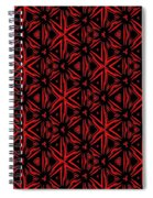 Crossing The Line Abstract  Spiral Notebook