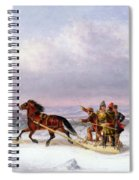 Crossing The Saint Lawrence From Levis To Quebec On A Sleigh Spiral Notebook