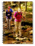 People Series - Crossing The Stream Spiral Notebook