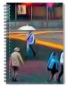 Crossing The Street Spiral Notebook