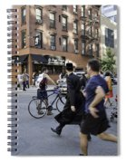 Crossing The Street In Dumbo Spiral Notebook