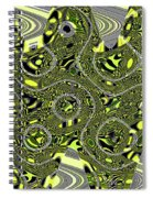 Crossing White Lines Abstract Spiral Notebook