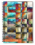 Crossover Abstract Pencil Spiral Notebook