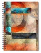 Crossroads Abstract Spiral Notebook