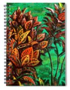 Crotons 5 Spiral Notebook