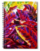 Crotons Sunlit 1 Spiral Notebook