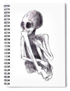 Crouched Skeleton Spiral Notebook