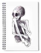 Crouched Skeleton Spiral Notebook