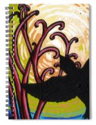 Crow And Full Moon In Winter Spiral Notebook