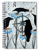 Crow Flowers Spiral Notebook
