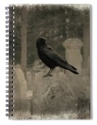 Crow In The Old Graveyard Mix Spiral Notebook