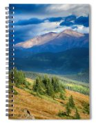 Crow On A Mountainside Spiral Notebook