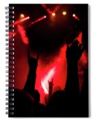 Crowd At A Rock Concert Spiral Notebook