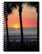 Crowd At Sunset Spiral Notebook