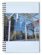 Crowd Queuing Up Spiral Notebook