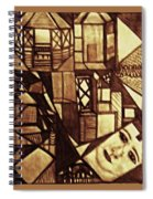 Crowded Neighborhood Abstract Spiral Notebook