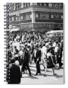 Crowded Street, Nyc, C.1960s Spiral Notebook