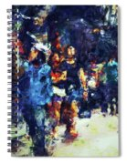 Crowded Street Spiral Notebook