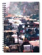 Crowded Streets Spiral Notebook
