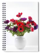 crown Anemone in a white vase Spiral Notebook