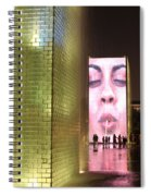Crown Fountain At Millennium Park Spiral Notebook