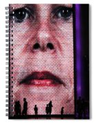 Crown Fountain Silhouettes Spiral Notebook