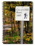Crown Hill Road 1885 Spiral Notebook
