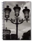Crowned Luminaires In Paris Spiral Notebook