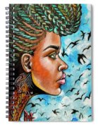Crowned Royal Spiral Notebook