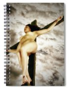 Crucified Woman In Upward View Spiral Notebook
