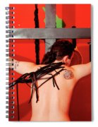 Crucified Young Man In A Bdsm Dungeon 7 Spiral Notebook