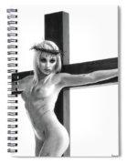 Crucifix Portrait I Spiral Notebook