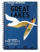 Cruise Across The Great Lakes - Canadian Pacific - Retro Travel Poster - Vintage Poster Spiral Notebook