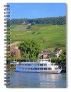 Cruise Boat, Rudesheim, Germany Spiral Notebook
