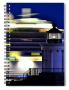 Cruise Ship At Bug Light Spiral Notebook