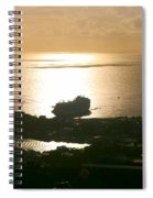 Cruise Ship At Sunset Spiral Notebook